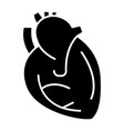 heart icon black sign on vector image