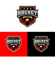 hockey tournament sport logo template vector image