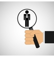 human resources searching employee manager graphic vector image