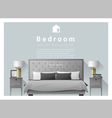 Interior design bedroom background 2 vector image vector image