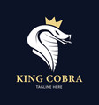 king cobra snake mascot logo template vector image vector image
