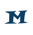latin letter m logo for company icon for the vector image vector image