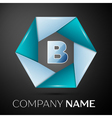 Letter B logo symbol in the colorful circle on vector image vector image
