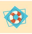 life buoy icon summer sea vacation concept vector image vector image