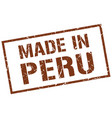 made in peru stamp vector image vector image