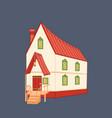 medieval cartoon house vector image