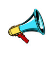 megaphone isolate on white background vector image vector image