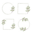 minimal hand drawn eucalyptus wreath frame for vector image vector image