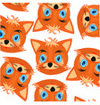 mug animal fox decorative pattern on white vector image vector image