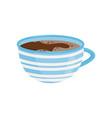 mug of tea or coffee tasty beverage delicious vector image vector image