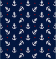 navy blue nautical anchor pattern vector image