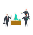 new years corporate party christmas in office vector image vector image