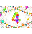 number four made up from colorful balloons vector image vector image