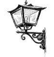 old lantern vector image vector image