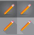 pencils in a flat on different backgrounds vector image