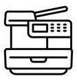 printer icon outline style vector image vector image
