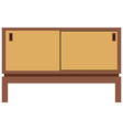 Retro furnite tv cabinet vector image vector image