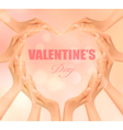 Retro holiday background with hands making a heart vector image