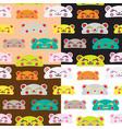 seamless kids bear pattern set vector image vector image