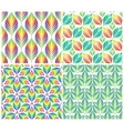 Seamless patterns with colorful leaves set vector image vector image