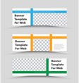 set horizontal white banners with a place vector image vector image