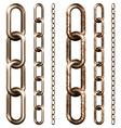 set metal chain vector image vector image