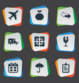 set of simple delivery icons vector image vector image