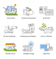 Smart House Concept Icon Set vector image vector image