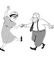 sweet couple dancing vector image vector image