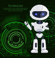 technology robot and text vector image vector image