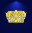 tiara with precious stones 2 vector image vector image