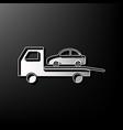 tow car evacuation sign gray 3d printed vector image vector image