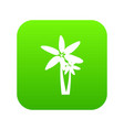two palm trees icon digital green vector image vector image