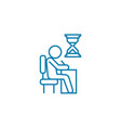urgent assignment linear icon concept urgent vector image