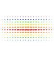 video gpu card spectrum halftone array vector image vector image
