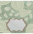 Vintage rose floral card vector image vector image