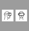 virtual reality design icon vr glasses isolated vector image