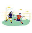 young boys football players in team uniform vector image vector image