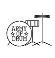 army of drum vector image