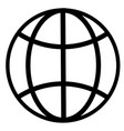 earth globe internet network planet icon vector image