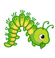 a caterpillar that eats vector image