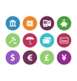 Banking circle icons on white background vector image