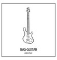 bass guitar icon vector image vector image