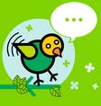 bird twitter vector image vector image