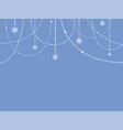 blue banner snowflakes christmas or new year vector image vector image