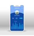 blue business ui ux gui screen for mobile apps vector image vector image