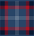 blue red and white tartan plaid seamless pattern vector image vector image