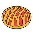 cherry pie icon cartoon vector image vector image