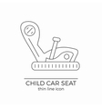 Child car seat thin line flat icon vector image vector image