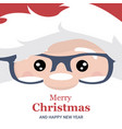 christmas card brochure of santa claus face vector image vector image